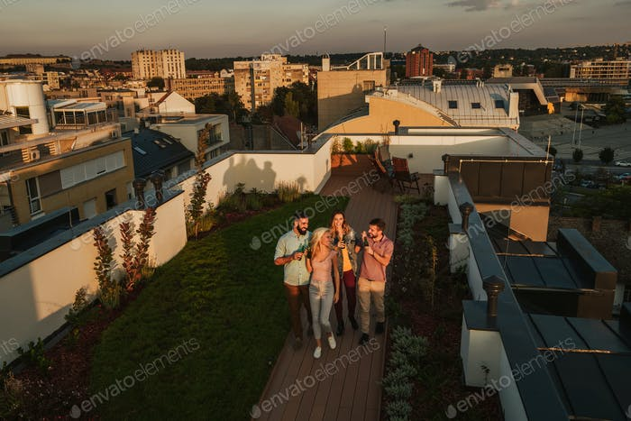 Rooftop gathering