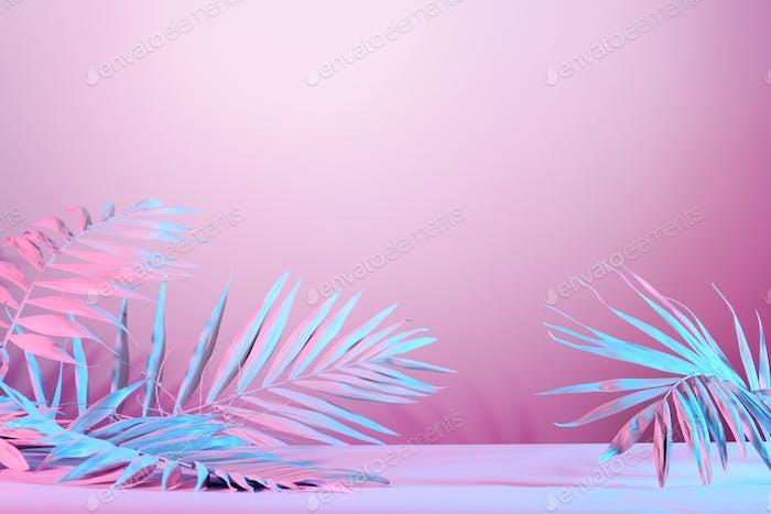Hintergrund mit abstrakten Palmblättern