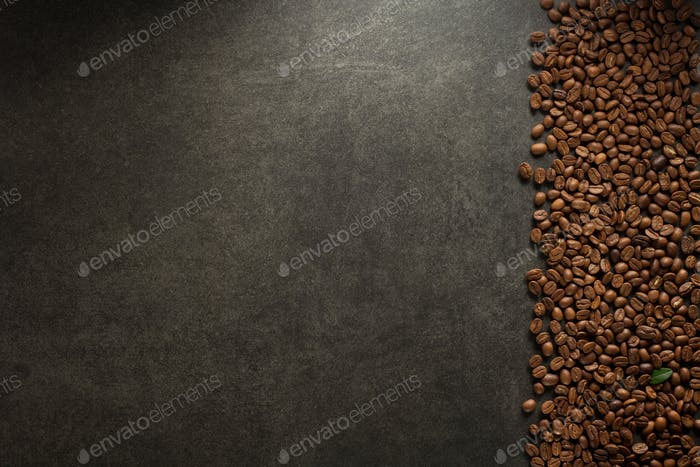 coffee beans at table