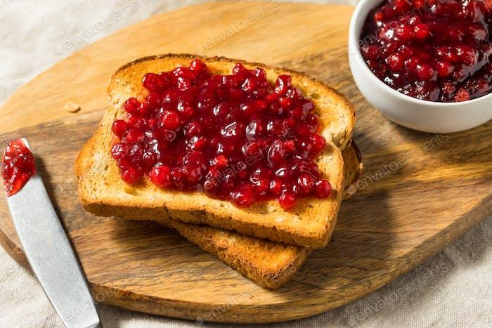 Traditional Homemade Lingonberry Jam