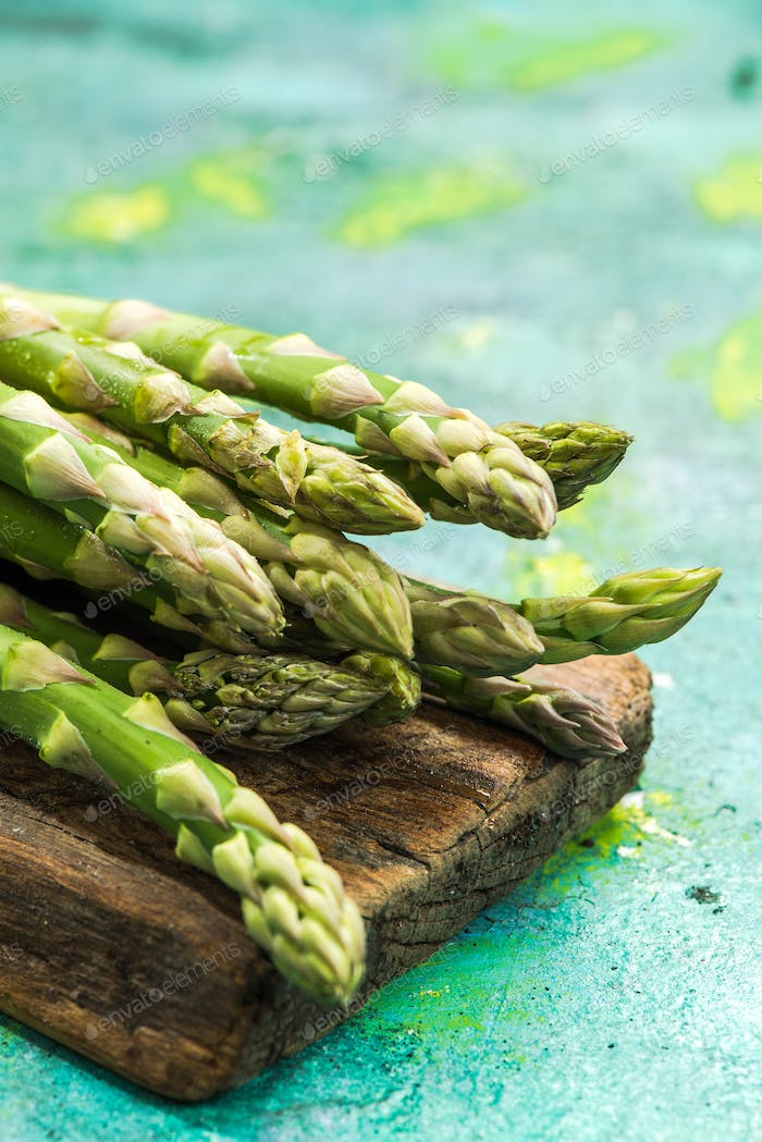 Fresh asparagus from farm to table