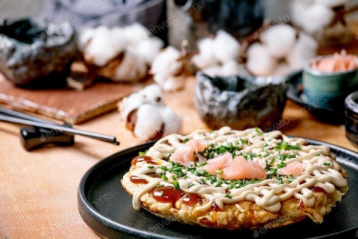 Japanese fast food okonomiyaki