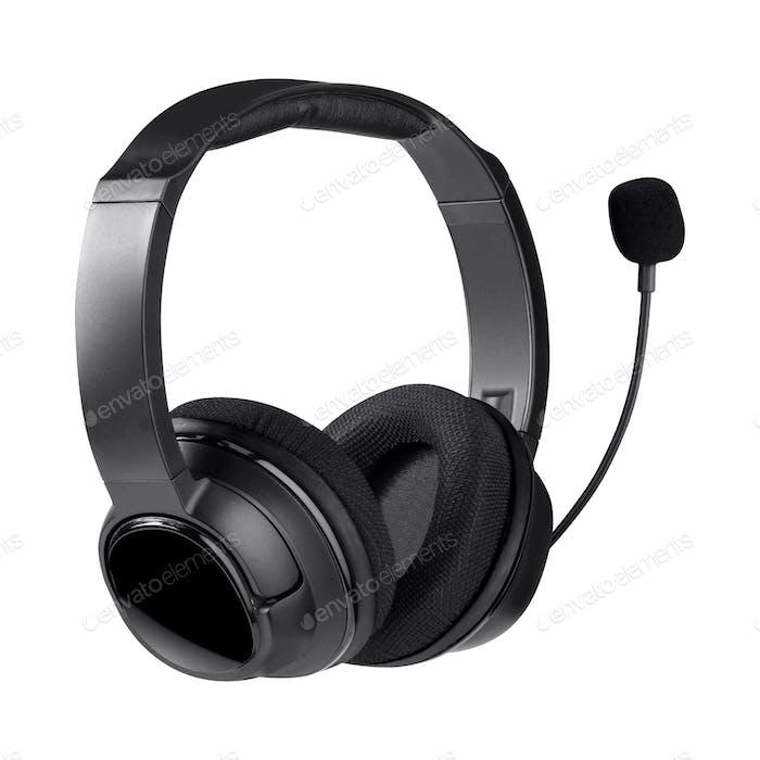 Helpdesk Headset Isoliert auf weißem Hintergrund
