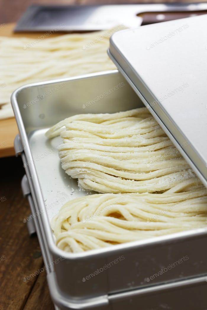 sanuki udon, japanese wheat noodles