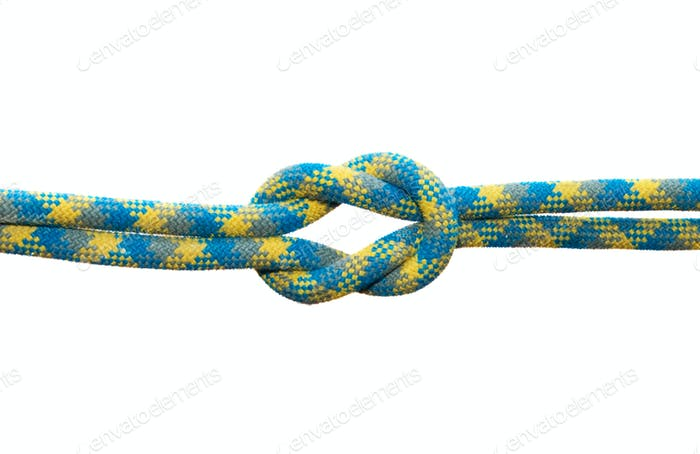 Straight sea knot. Isolated on white background.
