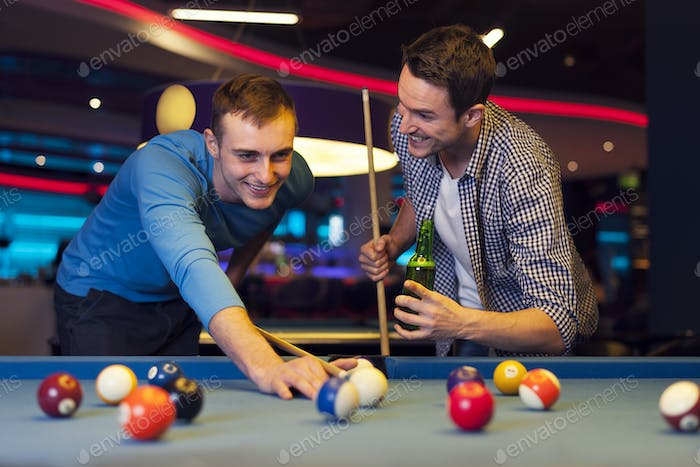 Male evening in billiard club