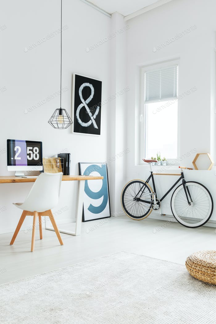 Bicycle and posters