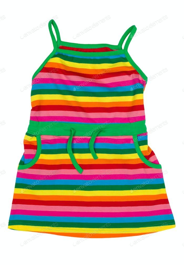 children's striped sundress