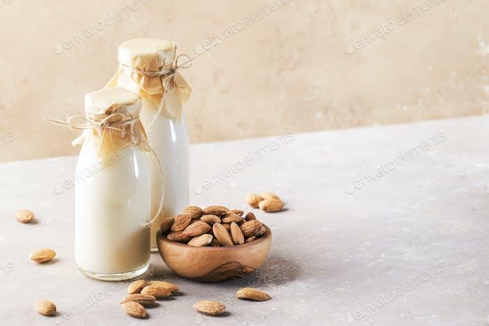 Vegan almond milk and cream