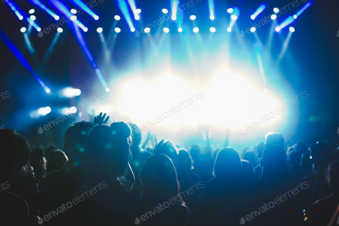 Crowd at concert enjoying performances