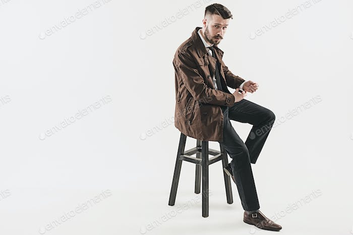 Portrait of stylish handsome young man