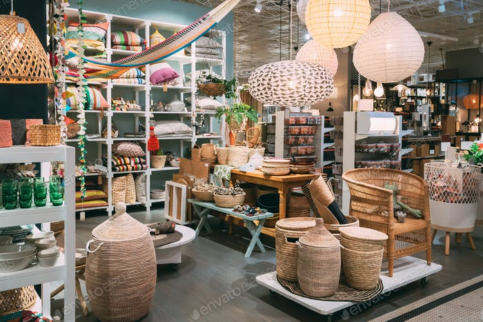 View Of Assortment Of Decor For Interior Shop In Store Of Shoppi