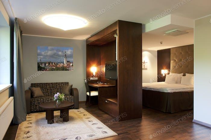 Upscale Hotel Room