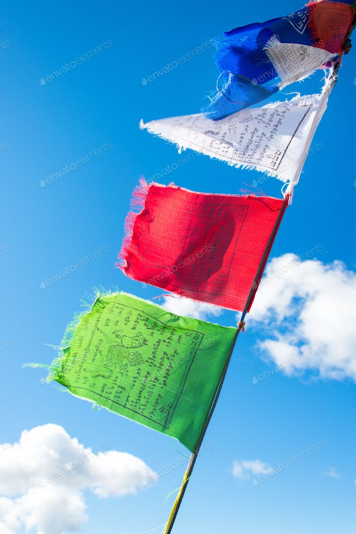 Tibetan prayer flags with