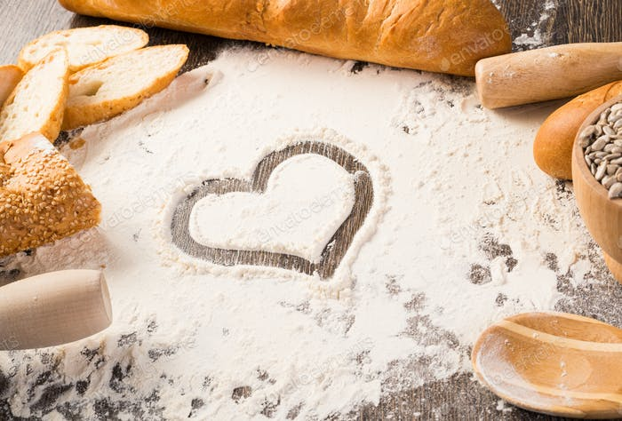 flour and white bread