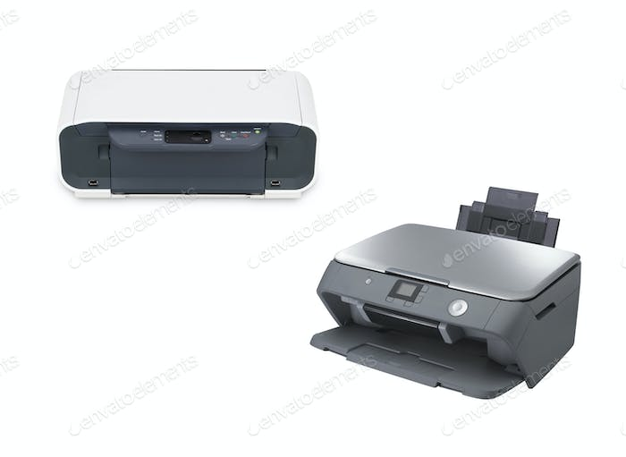 two color printer isolated