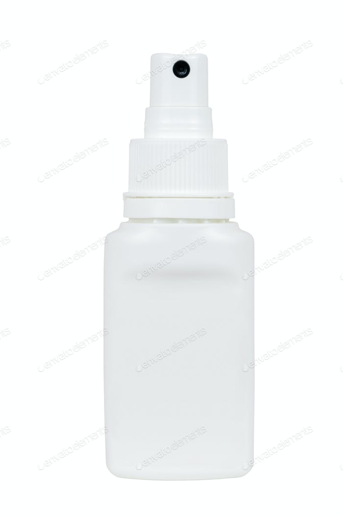 White spray plastic bottle