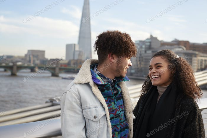 Young Tourist Couple Visiting London In Winter