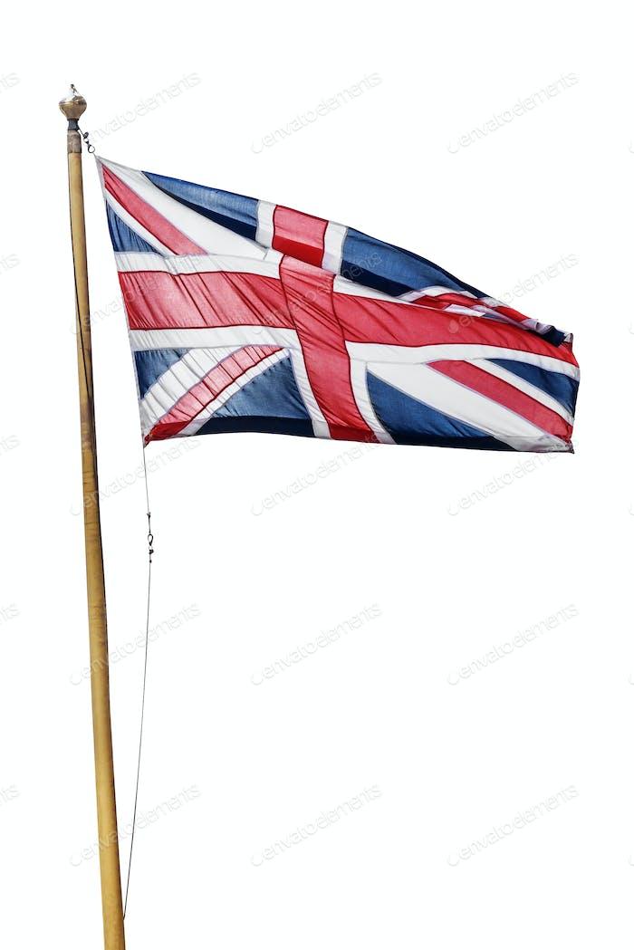 Flag of the United Kingdom isolated on white background