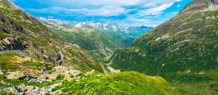 Summer Alpine Panorama