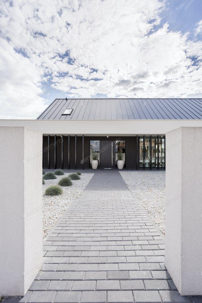 Porch of modern villa
