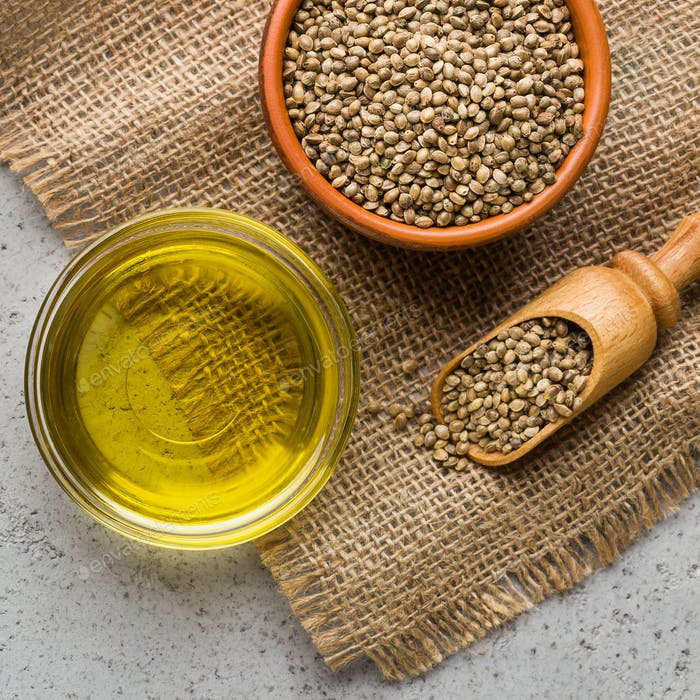 Hemp essential oil and seeds