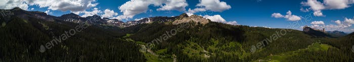 San Juan Mountains aerial panorama Colorado