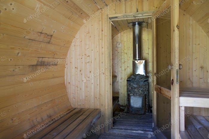 Rundes Sauna-Interieur