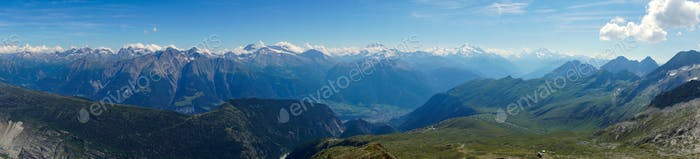 Panorama of the swiss alps