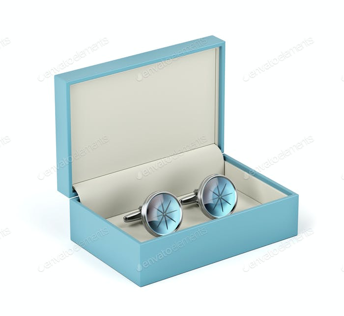 Box with cufflinks