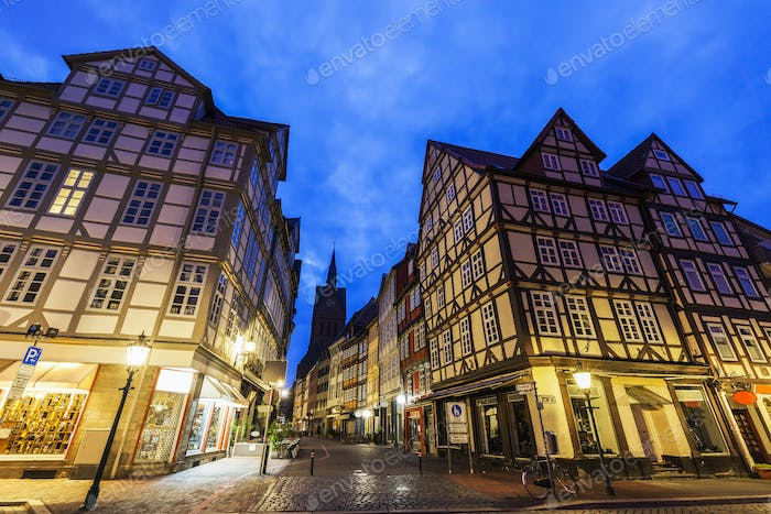 Colorful architecutre of Hanover