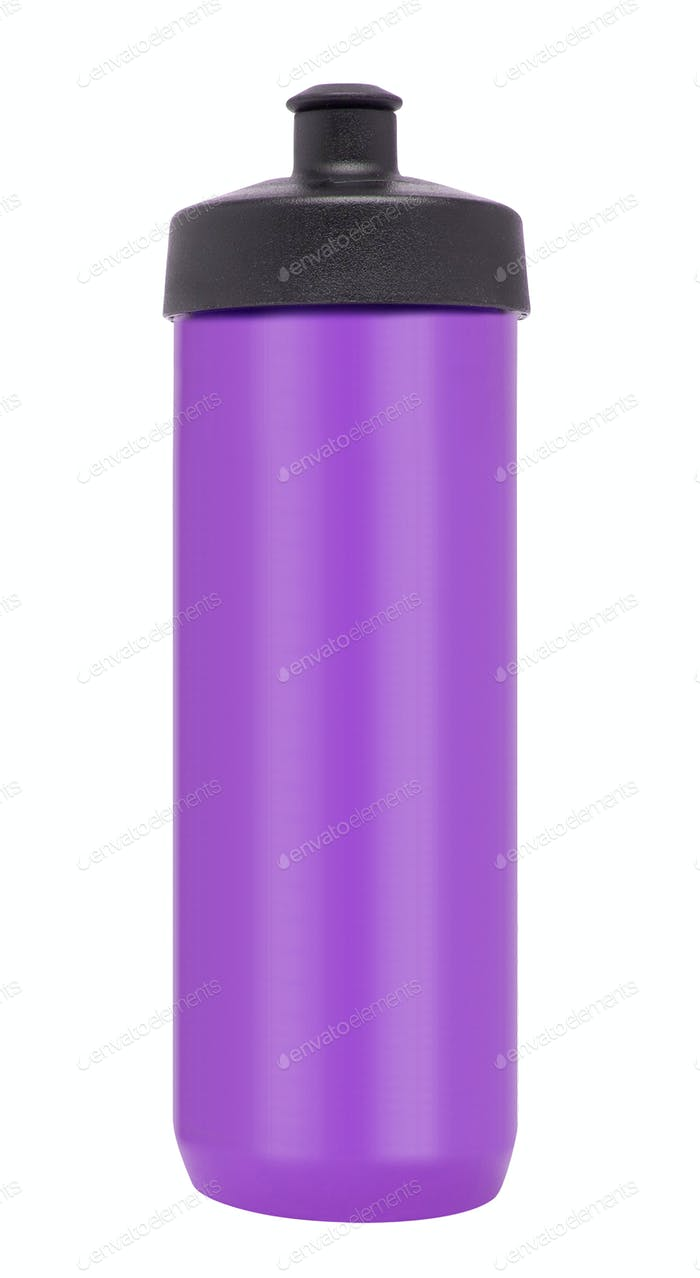 Bicycle water bottle in purple color