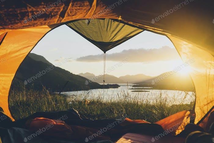 Camping in Ballachulish in Highland, Scotland