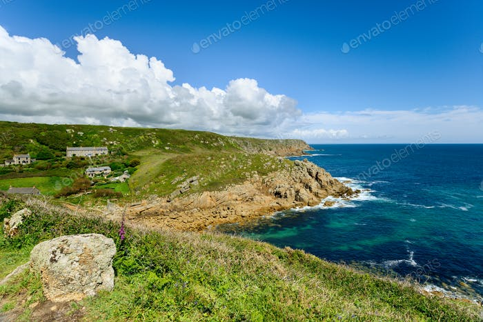 Porthgwarra on the Cornish Coast