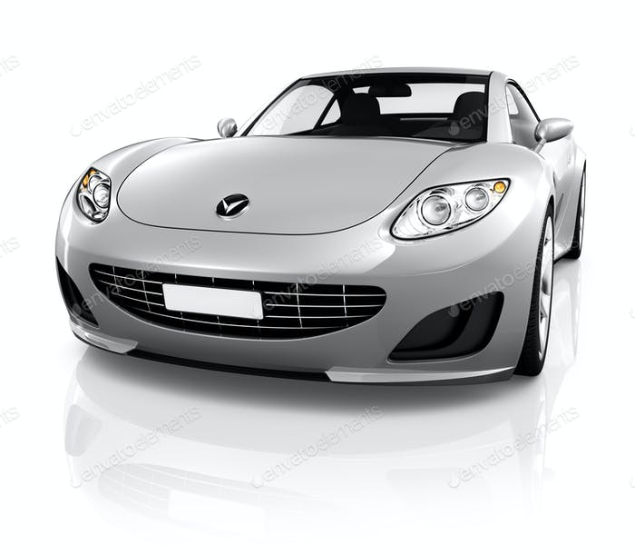 Sports Car on a White Background