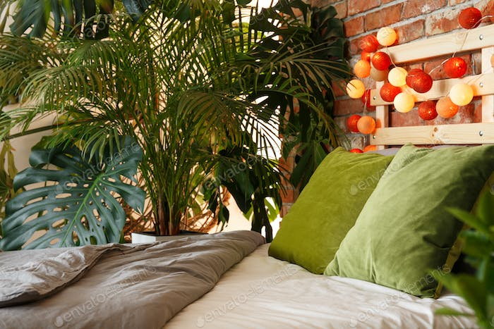 Bedroom for plant lover
