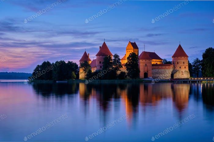 Schloss der Insel Trakai im See Galve, Litauen