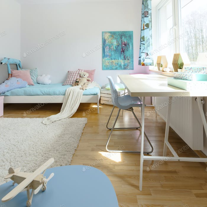 cosy modern children's room