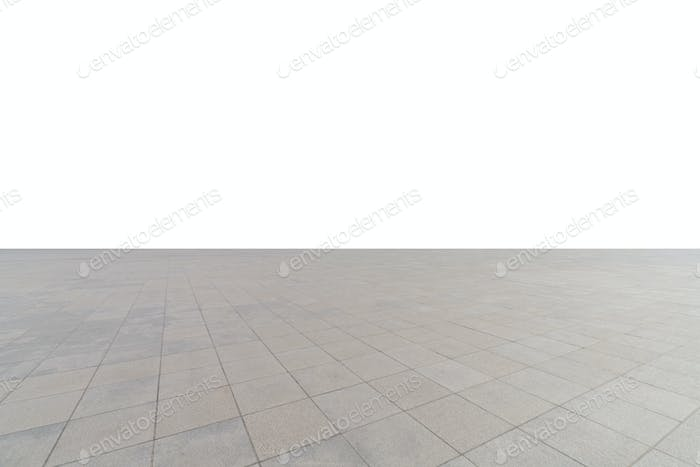 empty concrete square floor isolated