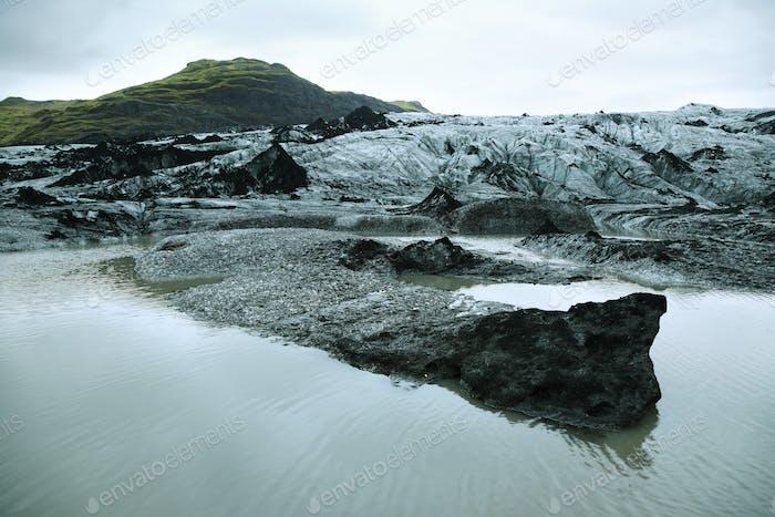 Solheimajokull Glacier in Iceland