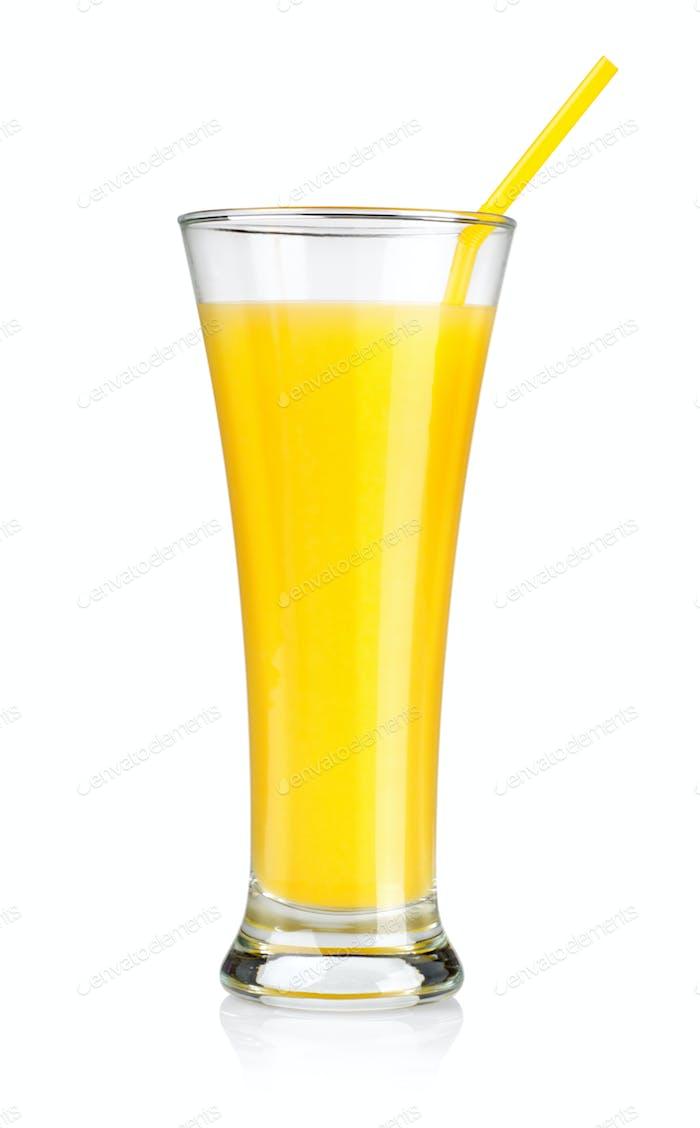 Orangensaft isoliert