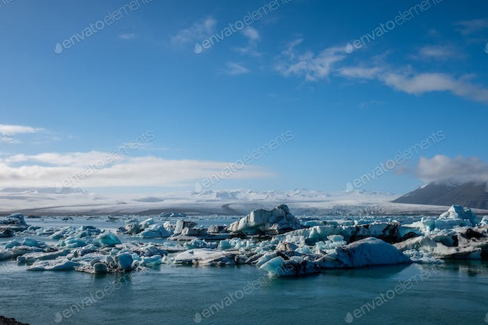 Beautiful view of Jokulsarlon lagoon