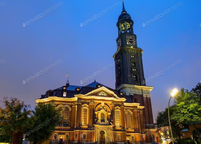 The St. Michaelis church at night