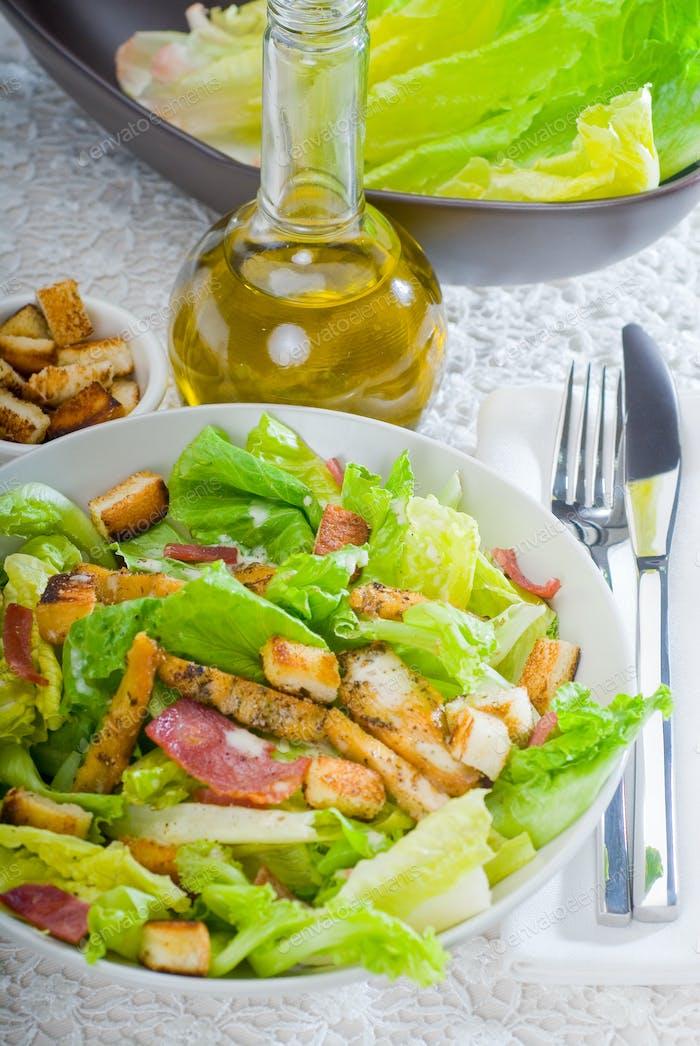 fresh homemade ceasar salad