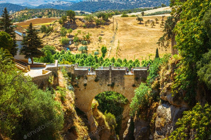 Thumbnail for The Puente Viejo (Old Bridge) in Ronda, Province Of Malaga, Spai