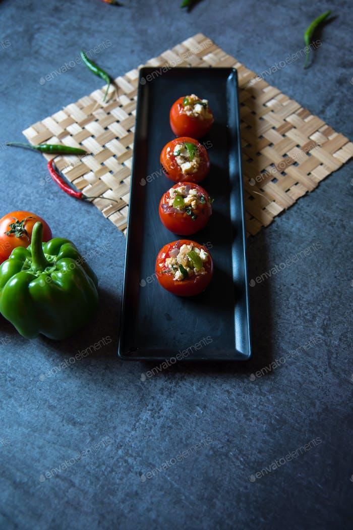Close up of Stuffed tomatoes