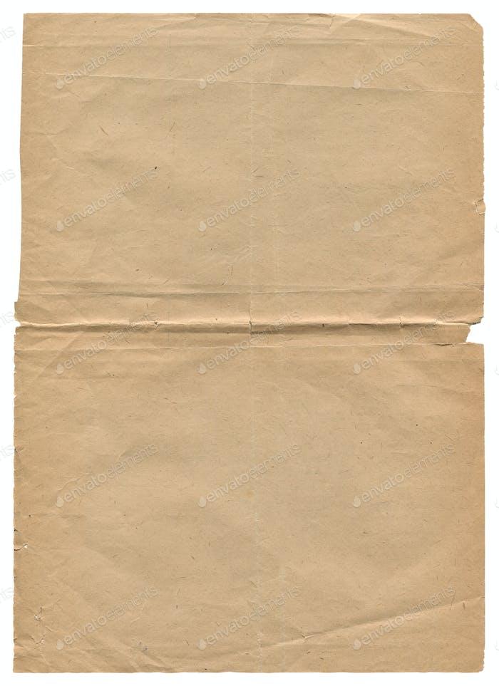 vertikale alte Papiertextur auf weiß