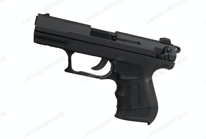 Pistole isoliert auf weiß