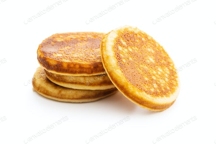 Sweet homemade pancakes.