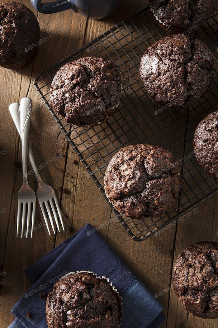 Homemade Dark Chocolate Muffins
